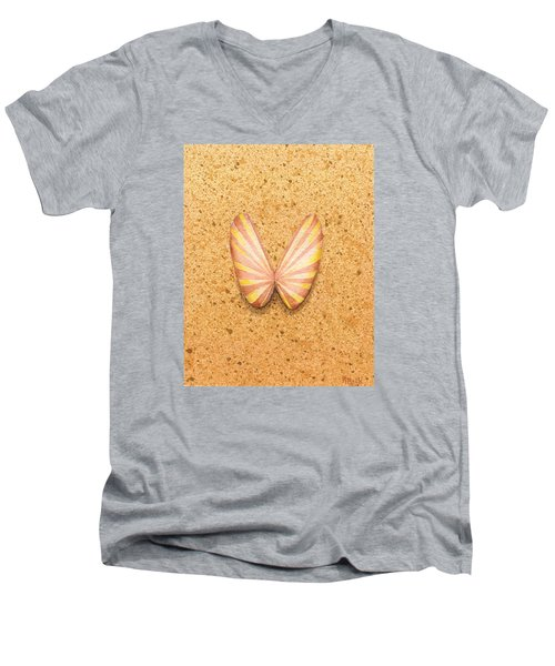 Butterfly Sea Shell Men's V-Neck T-Shirt
