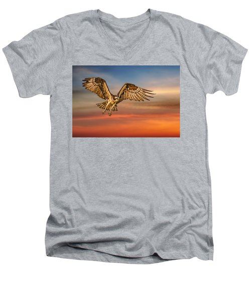 Calling It A Day Men's V-Neck T-Shirt by Susan Candelario