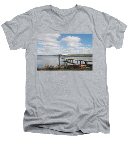 Men's V-Neck T-Shirt featuring the photograph Calm Waters by William Norton