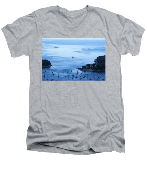 Camden Harbor Men's V-Neck T-Shirt by Joe Faherty