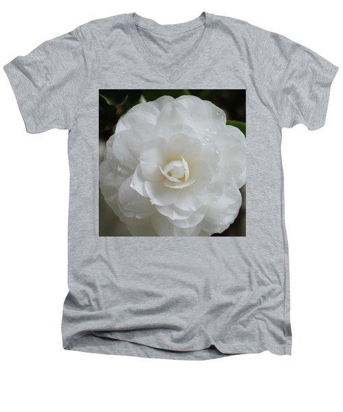 Camellia After Rain Storm Men's V-Neck T-Shirt