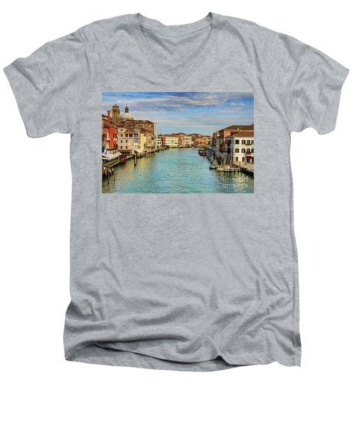 Canals Of Venice  Men's V-Neck T-Shirt