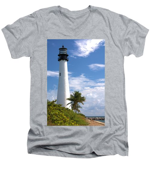 Cape Florida Lighthouse Men's V-Neck T-Shirt