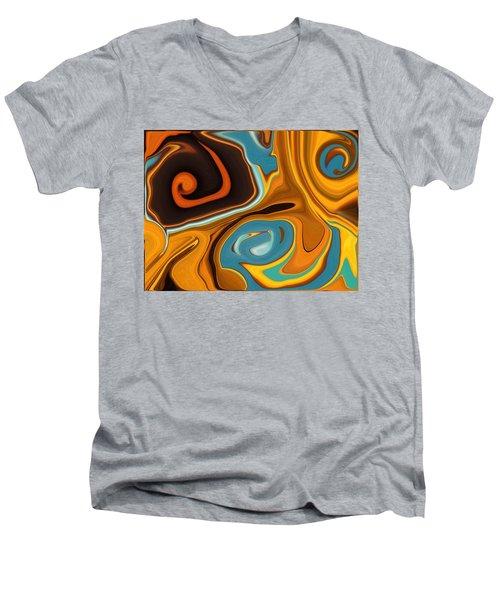Caramel Dreams Men's V-Neck T-Shirt by Renate Nadi Wesley