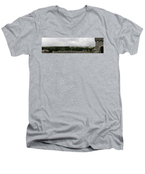 Cardiff Castle Panorama Men's V-Neck T-Shirt