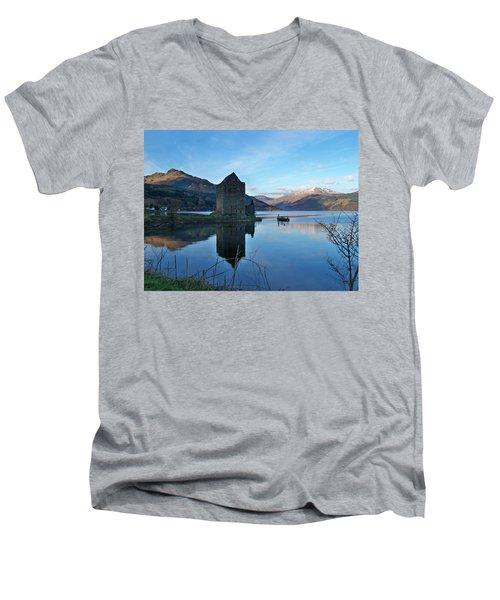 Men's V-Neck T-Shirt featuring the photograph Carrick Castle by Lynn Bolt