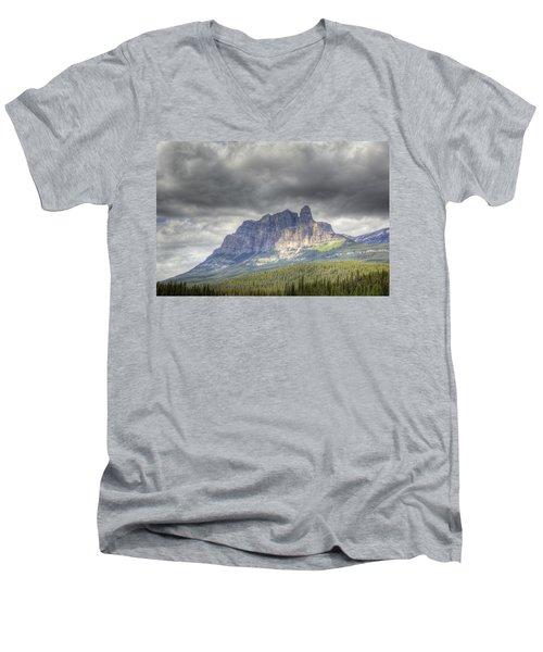 Castle Mountain 2011 Men's V-Neck T-Shirt