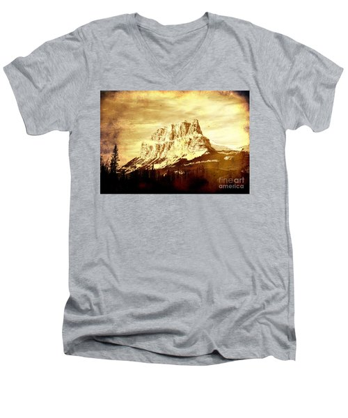 Castle Mountain Men's V-Neck T-Shirt