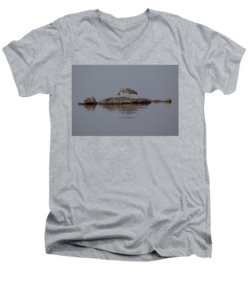 Men's V-Neck T-Shirt featuring the photograph Caught One by Eunice Gibb