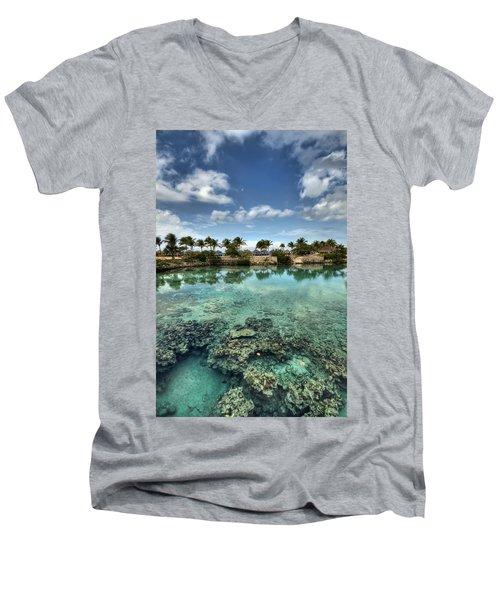Chankanaab Lagoon Men's V-Neck T-Shirt