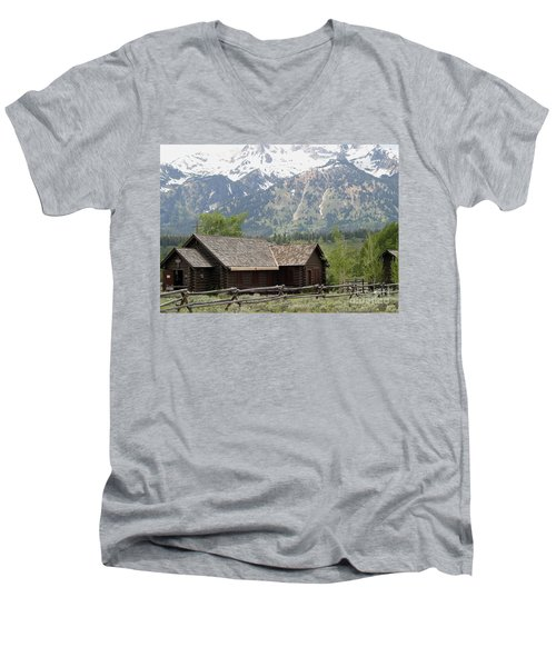 Men's V-Neck T-Shirt featuring the photograph Chapel Of The Transfiguration Episcopal by Living Color Photography Lorraine Lynch