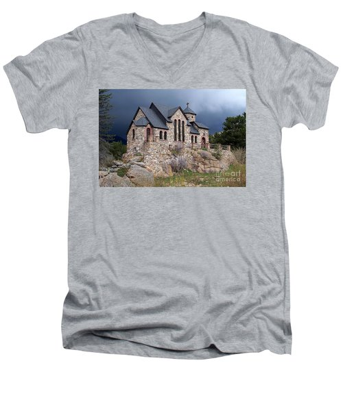 Chapel On The Rocks No. 1 Men's V-Neck T-Shirt