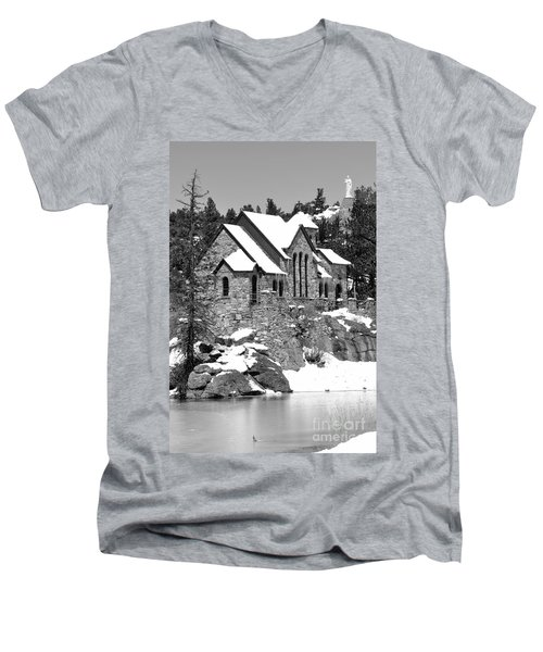 Chapel On The Rocks No. 2 Men's V-Neck T-Shirt