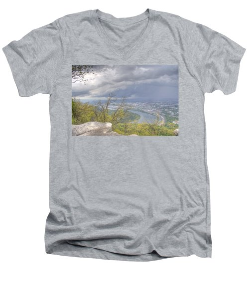 Chattanooga Valley Men's V-Neck T-Shirt by David Troxel