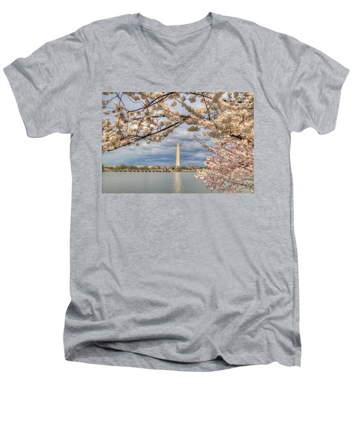 Cherry Blossoms Washington Dc 4 Men's V-Neck T-Shirt