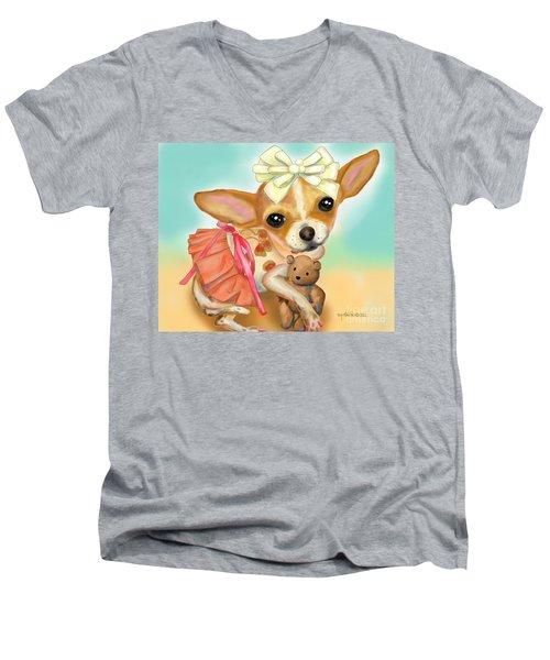 Chihuahua Princess Men's V-Neck T-Shirt