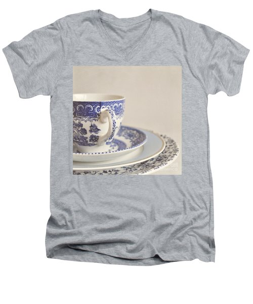 China Cup And Plates Men's V-Neck T-Shirt by Lyn Randle