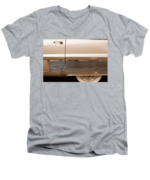 Men's V-Neck T-Shirt featuring the photograph Chrome by John Schneider