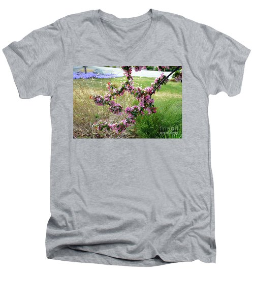 Circle Of Blossoms Men's V-Neck T-Shirt