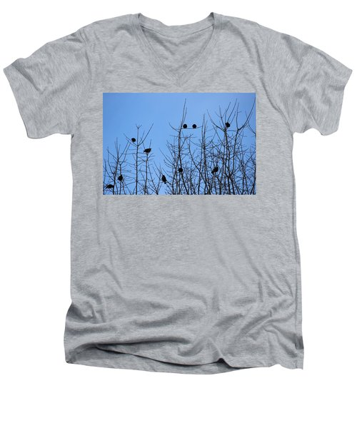 Men's V-Neck T-Shirt featuring the photograph Circle Of Friends by Kume Bryant