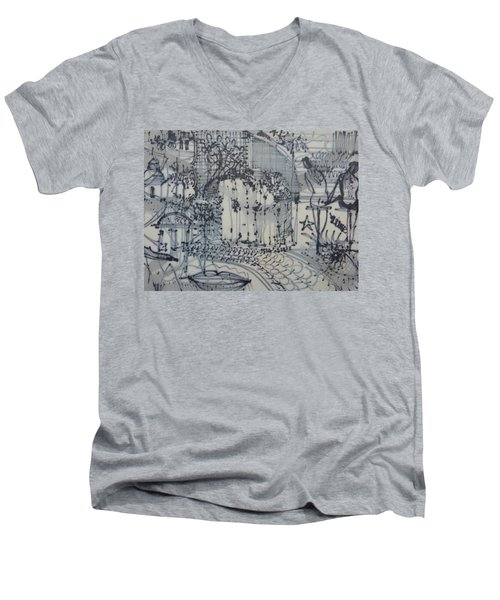 City Doodle Men's V-Neck T-Shirt