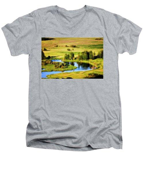 Men's V-Neck T-Shirt featuring the photograph Clark Fork Delta  by Albert Seger