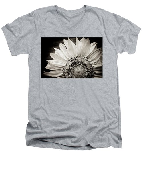 Men's V-Neck T-Shirt featuring the photograph Classic Sunflower by Sara Frank