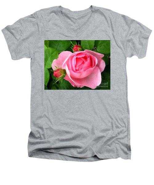 Rose And Rose Buds Men's V-Neck T-Shirt