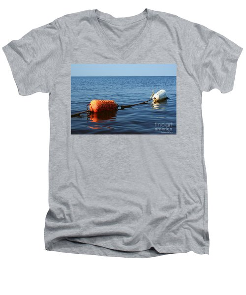 Men's V-Neck T-Shirt featuring the photograph Closed by Barbara McMahon