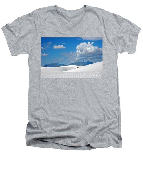 Clouds Over The White Sands Men's V-Neck T-Shirt