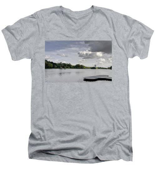 Men's V-Neck T-Shirt featuring the photograph Cloudy Hyde Park by Maj Seda