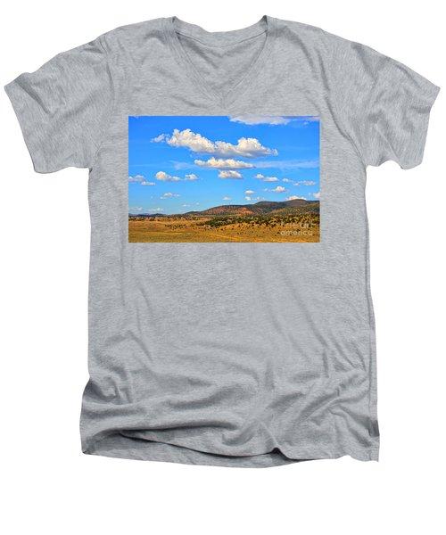 Cloudy Wyoming Sky Men's V-Neck T-Shirt
