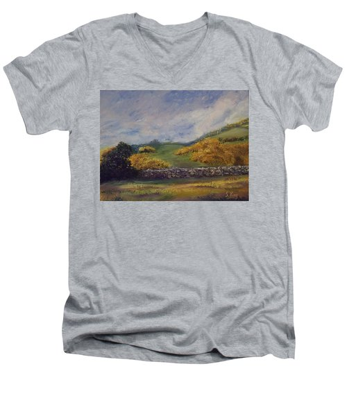 Clover Fields Men's V-Neck T-Shirt