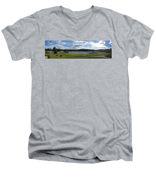 Club House Panorama Men's V-Neck T-Shirt
