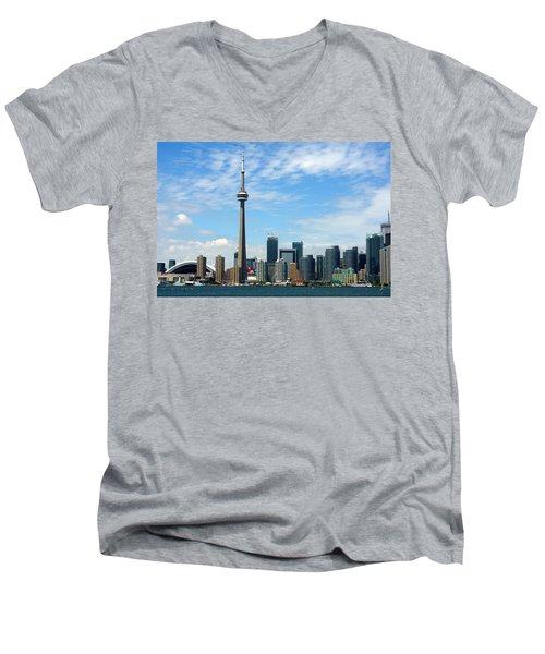 Cn Tower Men's V-Neck T-Shirt