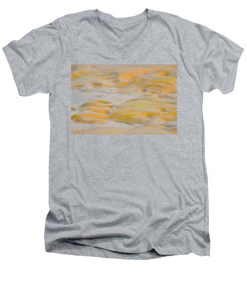 Coastal Abstract Men's V-Neck T-Shirt by Fotosas Photography