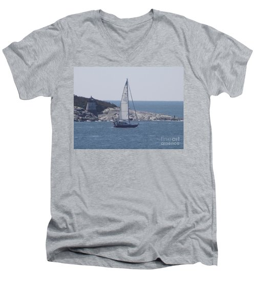 Coastal Newport Ri  Men's V-Neck T-Shirt