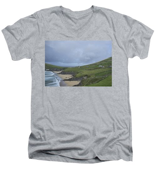 Men's V-Neck T-Shirt featuring the photograph Coastline  by Hugh Smith