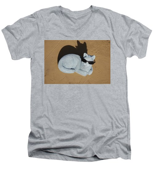 Men's V-Neck T-Shirt featuring the photograph Cool Cat by Aimee L Maher Photography and Art Visit ALMGallerydotcom