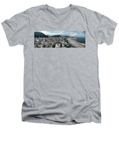 Copacabana Sunset Men's V-Neck T-Shirt