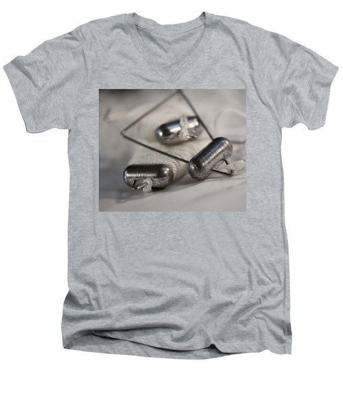 Crab Lines Men's V-Neck T-Shirt by Wilma  Birdwell