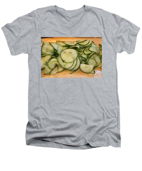 Cucumbers Men's V-Neck T-Shirt