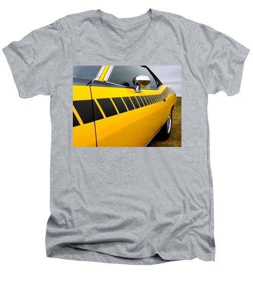 Cuda Stripes Men's V-Neck T-Shirt