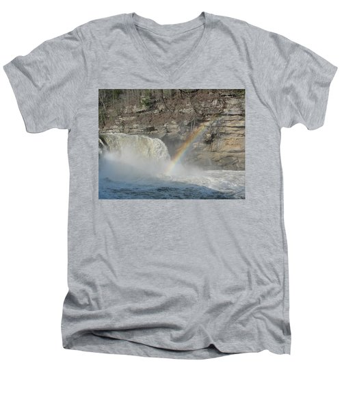 Men's V-Neck T-Shirt featuring the photograph Cumberland Falls by Tiffany Erdman