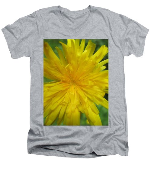 Men's V-Neck T-Shirt featuring the photograph Dandelion Close Up by Kym Backland