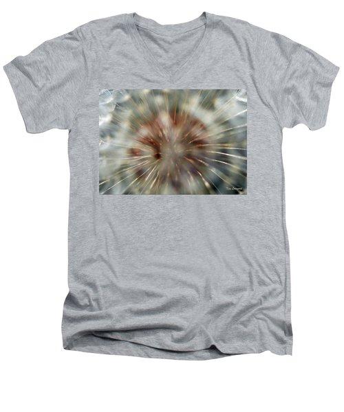 Dandelion Fluff Men's V-Neck T-Shirt