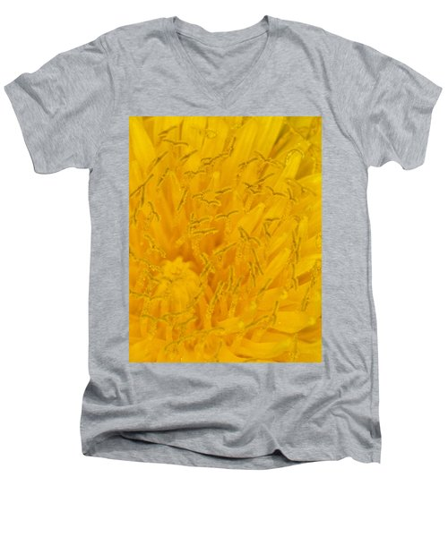 Dandelion Up Close Men's V-Neck T-Shirt