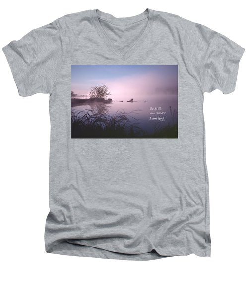 Dawn On The Chippewa River Men's V-Neck T-Shirt