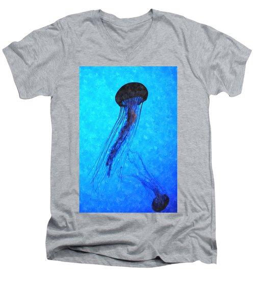 Deepsea Serenity Dswc Men's V-Neck T-Shirt by Jim Brage