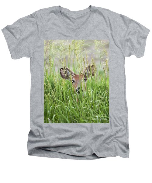 Deer In Hiding Men's V-Neck T-Shirt